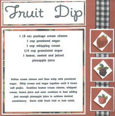 fruit dip recipe for swap - Two Peas in a Bucket