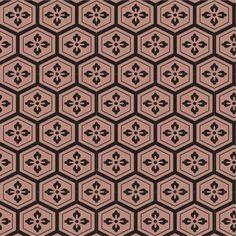 亀甲花菱(きっこうはなびし) Textile Prints, Textile Patterns, Textile Art, Textiles, Japanese Patterns, Japanese Art, Fabric Design, Pattern Design, Car Interior Design
