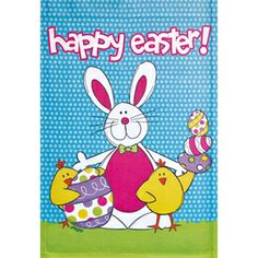 Happy Easter!   Rain or Shine�18-in x 12.5-in Easter Flag