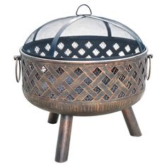 Found it at Wayfair - Woven Charm Firepit in Bronze