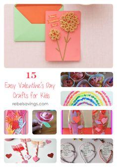 Kids Valentine Day Crafts | 15 Easy Valentine's Day Crafts For Kids - Rebel Savings