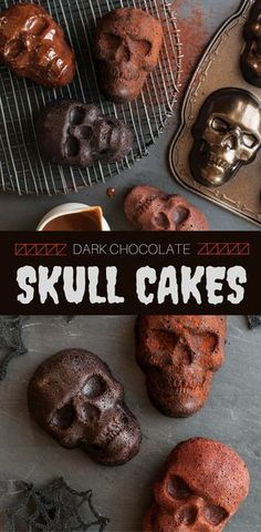 Add these spooky and festive Dark Chocolate Skull Cakelets to your Halloween dessert table! The ultimate dessert recipe that will haunt your guests using our must-have Skull Cakelet Pan.