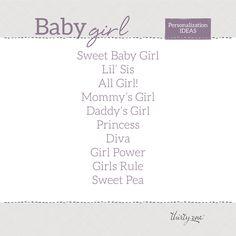 Cute personalization ideas for a newborn baby girl! www.mythirtyone.com/AmandaPrim