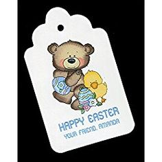 Easter Gift Tags, Bear With Chick, Personalized Set of 25 Easter Gift, Happy Easter, Coupon Websites, Gift Tags, Bear, High Heels, Gifts, Furniture, Happy Easter Day
