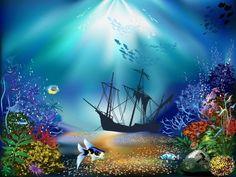 cartoon ocean wallpaper ile ilgili görsel sonucu