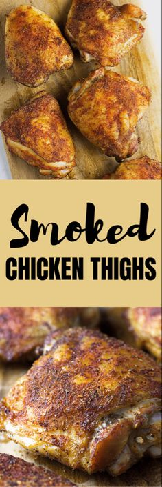 Smoked Chicken Thighs In 2 Hours [Step By Step Instructions] - Expolore the best and the special ideas about Smoking meat Smoking Chicken Thighs, Grilled Chicken Thighs, Moist Chicken, Traeger Chicken Thighs, Smoked Chicken Recipes, Easy Chicken Thigh Recipes, Smoked Chicken Thigh Rub Recipe, Smoked Pork, Traeger Recipes