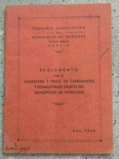 Documento original de Campsa. 1960