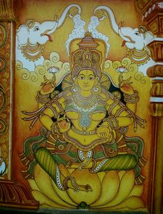 Kerala Mural Painting, Tanjore Painting, Indian Traditional Paintings, Indian Paintings, Lord Mahadev, Indian Folk Art, Krishna Radha, Outline Drawings, Lord Vishnu