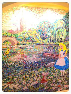 Alice mosaic at Tokyodisneyland Hotel---omg I was there,just didn't go to hotel,didnt see anything alice :(