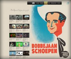 Music videos and discography on the Bobbejaan website.