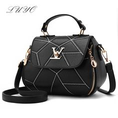 18.88$  Watch now - http://alibnd.shopchina.info/go.php?t=32798021693 - 2017 Fashion Woman Embroidery Thread Geometry Small V Style Saddle Luxury Handbags Women Famous Brands Messenger Bags Designer   18.88$ #buymethat