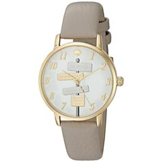 Kate Spade Women's KSW1126 'Metro' Novelty Sign Post Grey Watch