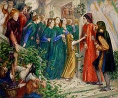 Dante Gabriel Rossetti - Beatrice Meeting Dante at a Marriage Feast, Denies Him Her Salutation