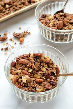 Healthy Gingerbread Granola