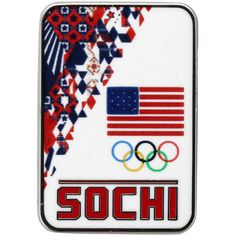 USA 2014 Winter Olympics Sochi Rectangular Pin - $6.64
