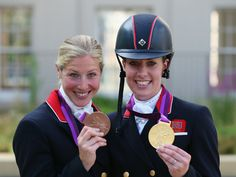 British rider Charlotte Dujardin won her second gold medal of London 2012 as she was crowned Olympic champion in equestrian's individual freestyle dressage at Greenwich Park. Laura Bechtolsheimer also won individual bronze