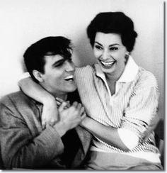 Elvis Presley and Sophia Loren Meet on the King Creole Set, January 1958 - third of five?