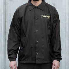 Thrasher Pentagram Coach Jacket (Black)
