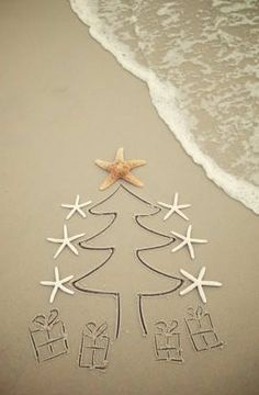Christmas at the Beach!  Wish I could take credit for this but what a great idea for next year's Christmas card!