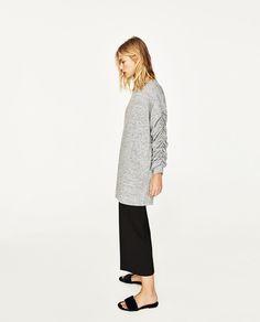 MINI DRESS WITH GATHERED SLEEVES-DRESSES-WOMAN | ZARA United States