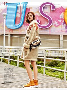 Maaike Klaasen in Coach Fall 2014 by Mark Andrew for Spur October 2014