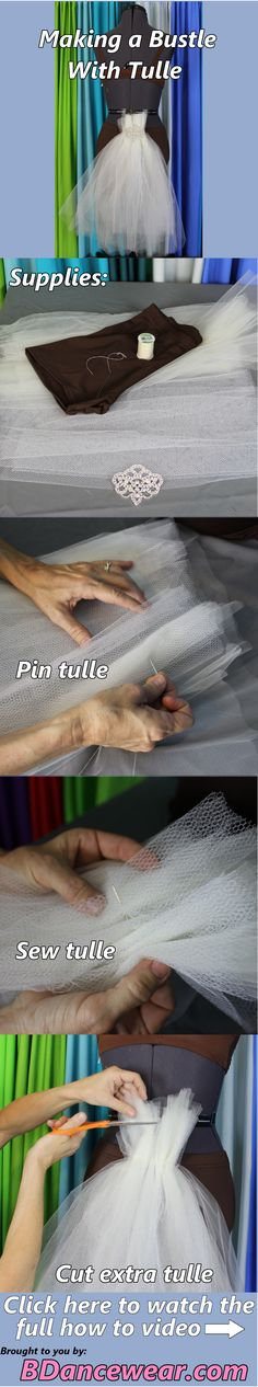 How to make a bustle with tulle for a DIY dance costume.