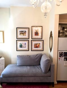 Julie's Teeny Abode — Small Cool | Apartment Therapy Love the couch piece
