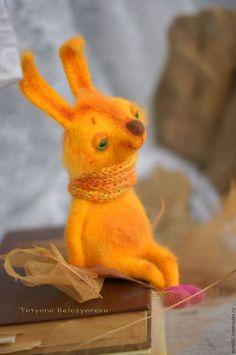 Needle felted toy Bunny / Игрушки животные, ручной работы. Ярмарка Мастеров - ручная работа. Купить Солнечный зайчик. Handmade. Желтый, сказка