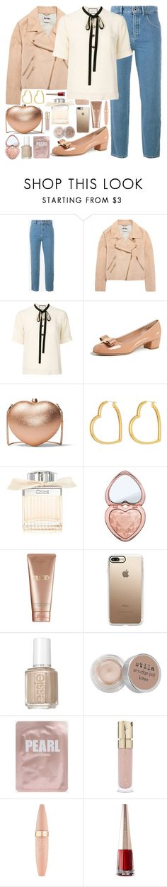 """Untitled #1091"" by douxlaur ❤ liked on Polyvore featuring Chloé, Acne Studios, Gucci, Salvatore Ferragamo, MICHAEL Michael Kors, Henri Bendel, Too Faced Cosmetics, La Mer, Casetify and Essie"