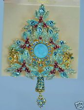 Kirks Folly Heart Of The Dream Angel Christmas Tree Pin Brooch Pendant