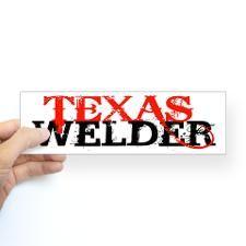 Texas Welder Bumper Bumper Sticker