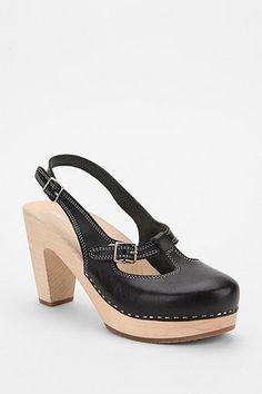 Swedish Hasbeens Mary Jane Slingback Heel - Urban Outfitters