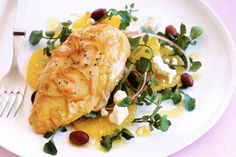 Fabulous and simple this citrus chicken is bound to please. Feta Chicken, Chicken Slices, Cooking Recipes, Healthy Recipes, Savoury Recipes, Appetisers, Chicken Seasoning, Great Recipes