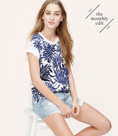 Thumbnail Image of Primary Image of Leaf Cuffed Vintage Broken In Tee