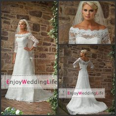 Wholesale Mermaid Wedding Dresses - Buy Elegant Lace Mermaid Wedding Dresses 2015 Sexy Off The Shoulder Long Sleeves Lace Applique Court Train Bridal Gowns, $143.54 | DHgate.com