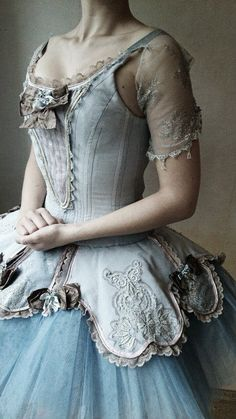 Once upon a ball. Romantic soft blue gown. The bodice skirt over the tulle tutu. Raindrops and Roses. Dress up
