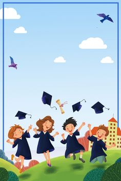Graduation season simple blue gold list title Graduation Crafts, Graduation Theme, Creative Typography, Creative Posters, Blog Backgrounds, Colorful Backgrounds, Graduation Wallpaper, Plan Image, Seasons Posters