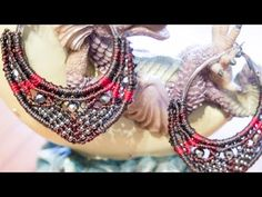{CRAFT} Micro Macrame Hoop Earrings with beads - YouTube