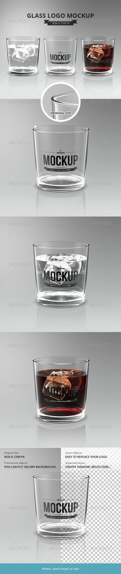 Glasses Logo Mockup - Food and Drink Packaging