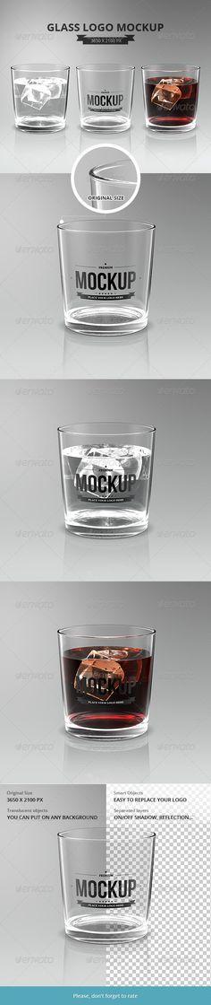Glasses Logo Mockup - Food and Drink Packaging