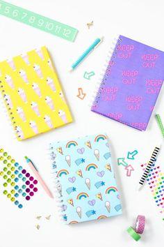 Three (More!) Free Printable Notebook Covers | http://studiodiy.com
