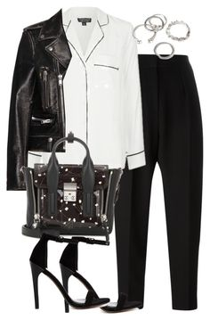 """""""Untitled #2612"""" by theeuropeancloset ❤ liked on Polyvore featuring Alexander Wang, Topshop, Yves Saint Laurent, ASOS, 3.1 Phillip Lim and Forever 21"""