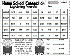 Sight word speed game - at home or at school - great resource