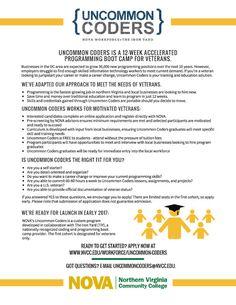 Uncommon Coders Program still OPEN - There are (5) seats, Woodbridge, VA 2/6/17