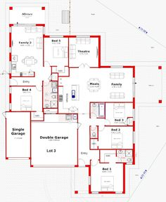 Discover our entire range of Dual Occupancy House Plans designed for the Perth metro area. From Single storey studio's to custom granny flats attached to the main home. We offer Double Storey and house behind house special purpose duplex style designs. Duplex Floor Plans, Bungalow Floor Plans, Modern House Floor Plans, Home Design Floor Plans, Craftsman House Plans, Best House Plans, Dream House Plans, House Layout Plans, Floor Plan Layout