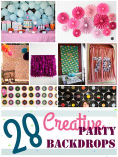 28 Creative Party Backdrops