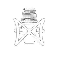 El logo vista front. Este logo engloba el concepto de la radio y su principal arma: el micrófono, diseñado para el curso de Taller de Radiofónica