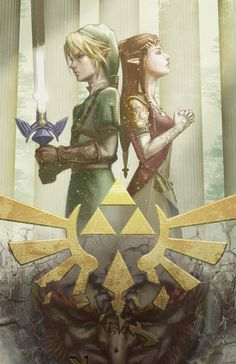 triforceof-power: The Legend of Zelda by ~baimonart