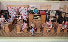 50er Jahre Schule 5 by diepuppenstubensammlerin, via Flickr