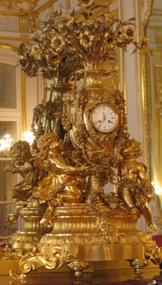 Rococo Clock in the Grand Hôtel d'Estrées, the residence of the Russian ambassador to Paris, constructed in the early 18th century